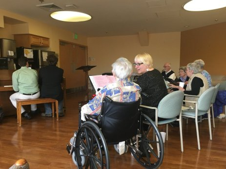 A rehearsal for Side by Side, our music initiative! Our group of participants demonstrate the health benefits of learning a new skill at any age. #musictherapy #geriatrics