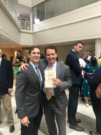 """Charm City Dream came out with us to celebrate the release of MGG co-director Dr.Panagis Galiatsatos' new book called """"Building Healthy Communities Through Medical-Religious Partnerships""""!"""