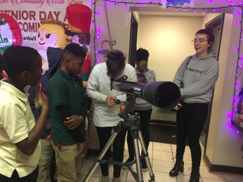 """By parternering with popscope, students were able to learn about astronomy and asthma during our """"Science and Scarves"""" event!"""