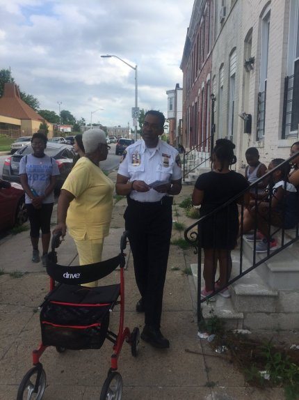 Our community walk was a huge success! This was a community engagement initiative involving Hopkins Medicine, Baltimore Police, and MERIT Scholars! #community #MyBmore