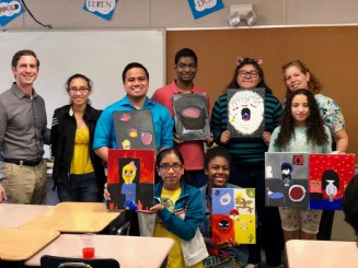 This is a small portion of the students participating in this year's Depression Initiative! The students participated in creating art work for stress relief. (2018) #fightthestigma #ArtTherapy