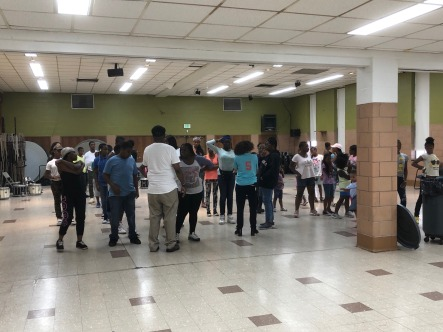 During a meeting with Rev. King about another Poe Homes School Kickoff Initiative, MGG got to see the Baltimore Christian Warriors marching band, a band started by Rev. King to keep the kids busy and off of the street!