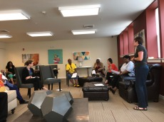 This is the start of a physical therapy support program at Mary Harvin Senior Center. Here physical therapist Christine Wells discusses the needs of the Mary Harvin Community residents in regards to individual exercise.