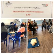 A session on CPR and First Response requested by residents at McCulloh Homes